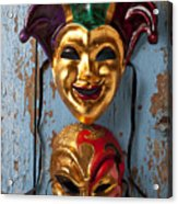 Two Decortive Masks Acrylic Print by Garry Gay