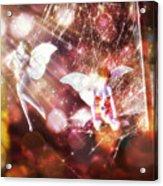 Two Fairies In The Web Acrylic Print
