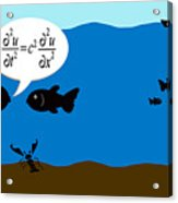 Two Fish Discuss Wave Theory. Acrylic Print
