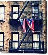 Two Flags In Washington Heights Acrylic Print