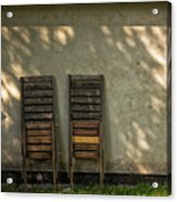 Two Folded Sun Chairs Acrylic Print