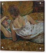 Two Friends Acrylic Print by Henri de Toulouse-Lautrec