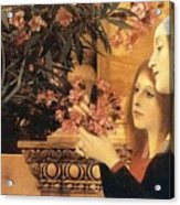 Two Girls With An Oleander Acrylic Print