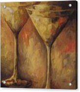 Two Golden Martinis  Acrylic Print