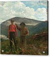 Two Guides Acrylic Print by Winslow Homer