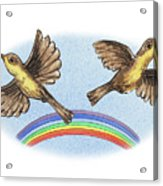 Two Happy Birds Acrylic Print