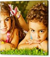 Two Happy Kids Acrylic Print