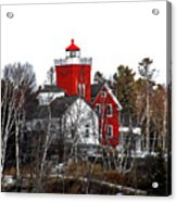 Two Harbors Lighthouse Close-up Acrylic Print