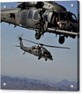 Two Hh-60 Pave Hawk Helicopters Prepare Acrylic Print