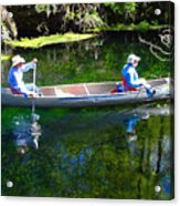 Two In A Canoe Acrylic Print