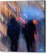 Two In The Rain Acrylic Print