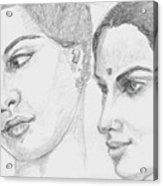 Two Indian Women Acrylic Print