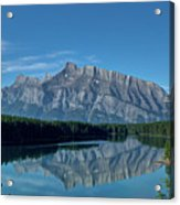 Two Jack Lake In The Morning Acrylic Print