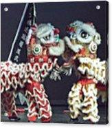 Two Lions Kung Fu Club Acrylic Print