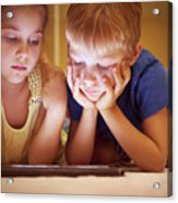 Two Little Kids Acrylic Print