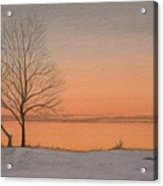Two Lovers At Sunset Acrylic Print