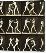 Two Men Boxing Acrylic Print