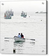 Two Men In A Dinghy Acrylic Print