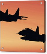Two Migs At Sunset Acrylic Print