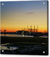 Two Mile Landing At Sunrise - Wildwood Crest New Jersey Acrylic Print