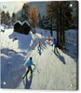 Two Mountain Huts Acrylic Print