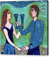 Two Of Cups Illustrated Acrylic Print