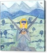 Two Of Swords Illustrated Acrylic Print