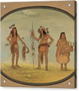 Two Ojibbeway Warriors And A Woman Acrylic Print