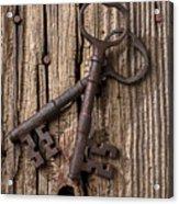Two Old Skeletons Keys Acrylic Print