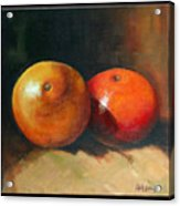 Two Oranges Acrylic Print by Pepe Romero