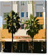 Two Palms Art Deco Building Acrylic Print