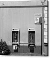 Two Pay Phones Acrylic Print