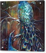 Two Peacocks Acrylic Print