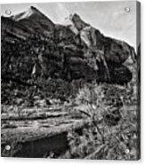 Two Peaks - Bw Acrylic Print
