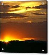 Two Peaks Sunset Acrylic Print