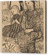 Two Peasant Girls Acrylic Print
