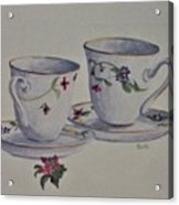 Two Pretty Teacups Acrylic Print