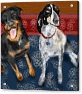 Two Pups On A Persian Carpet Acrylic Print