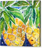 Two Purple Pineapples Acrylic Print