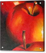 Two Red Apple Acrylic Print by Pepe Romero