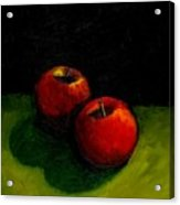 Two Red Apples Still Life Acrylic Print