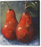 Two Red Pears II  Acrylic Print