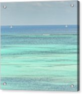Two Sailboats In The Bahamas Acrylic Print