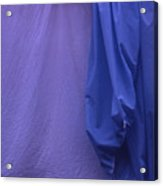 Two Sheets Abstract Purple Blue Acrylic Print