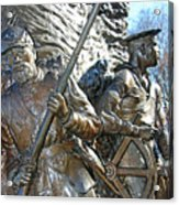 Two Soldiers Of The The African American Civil War Memorial -- The Spirit Of Freedom Acrylic Print