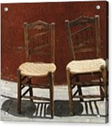 Two Spainisch Chairs  Acrylic Print