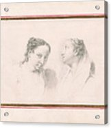 Two Studies Of Girls Acrylic Print