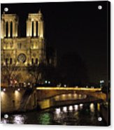 Two Towers Of Notre Dame Acrylic Print