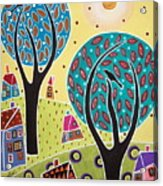 Two Trees Two Birds Landscape Acrylic Print