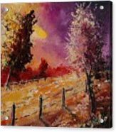 Two Trees Waiting For The Storm Acrylic Print